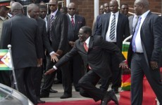 Photographers in Zimbabwe forced to delete photos of President Mugabe falling