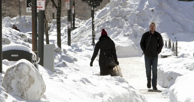 PICS: A LOT of snow has fallen on Boston