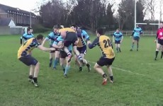 This Irish amateur rugby player channels his inner George North in game versus Clondalkin