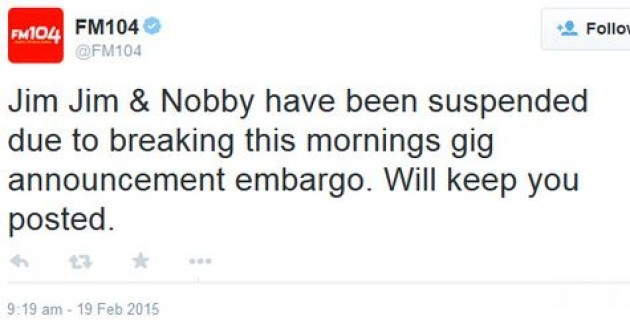 FM104 says its 'edgy' presenters will be punished for breaking the Ed Sheeran embargo