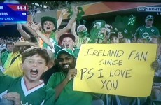 This new* Ireland supporter has the best sign of the Cricket World Cup