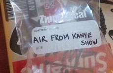 Somebody is actually selling 'air' from a Kanye gig and the bids are skyrocketing