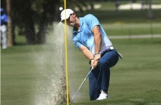 How much money does Rory have? 'Being able to toss a club into the water' money, that's how much