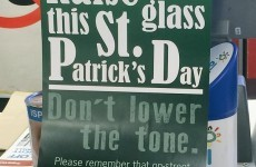 SuperValu has some solid advice for Dubliners this St. Patrick's Day