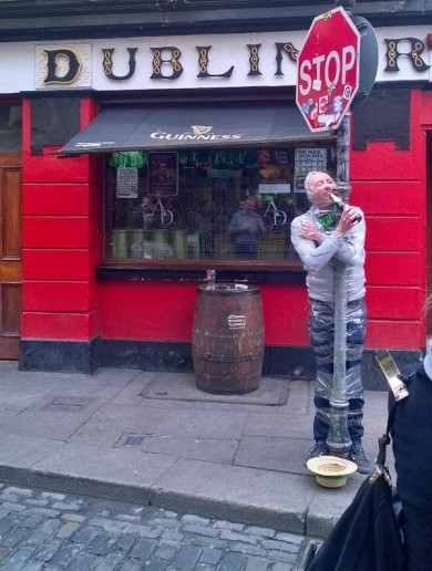 It looks like this guy had a little too much fun in Temple Bar yesterday…