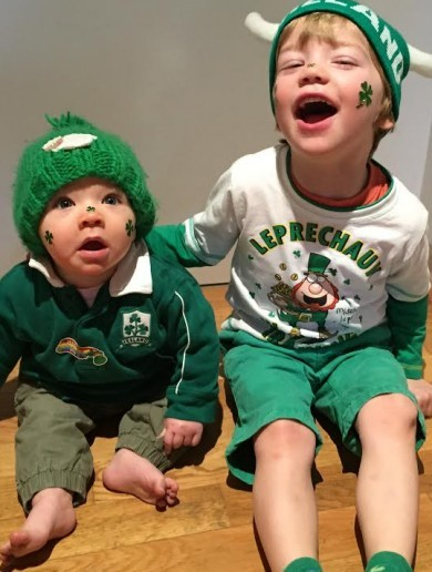 YOUR St Patrick's Day: Toddlers in bow ties, surprise snowmen