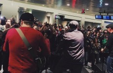 Dropkick Murphys did a surprise Paddy's Day gig in the middle of Boston airport