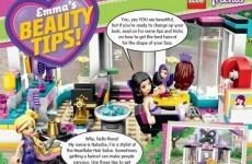 Lego published beauty tips for girls and parents are not one bit happy