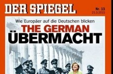 Der Spiegel cover shows Angela Merkel among the Nazis