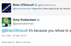 This exchange between Brian O'Driscoll and Amy Huberman is the definition of domestic bliss