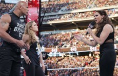 Ronda Rousey teamed up with The Rock at Wrestlemania last night