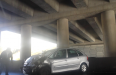 The M50 was closed after an eight-car rush hour pile-up