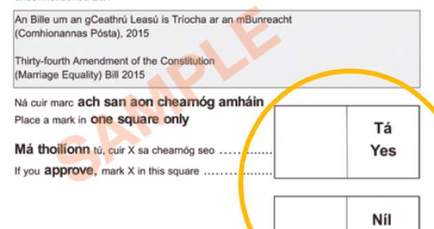 The people in charge of the referendum are confident this ballot paper won't confuse you