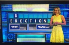 This afternoon's Countdown just had a double 'erection' incident