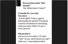 Ed Miliband had the most Dad response to finding out what YOLO meant