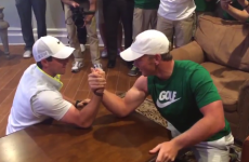 Rory McIlroy… good at golf, terrible at arm-wrestling