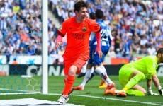Lionel Messi dedicated Barcelona's win last night to his late coach