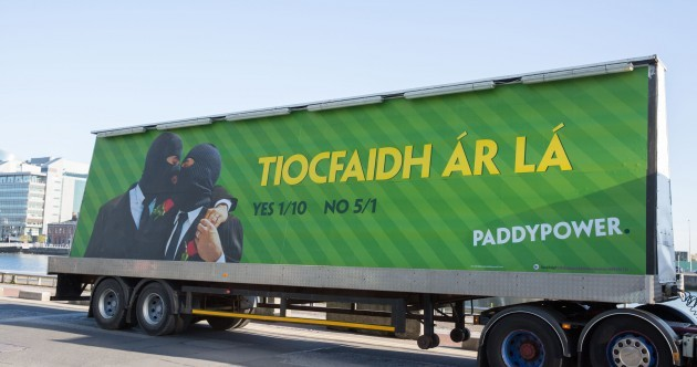 This is how Paddy Power is posting its odds for the marriage referendum