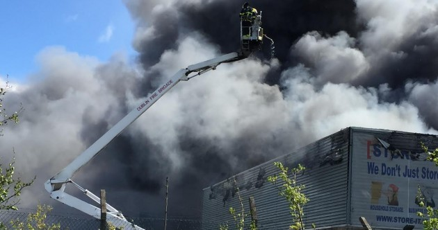 PICTURES: 50 firefighters deal with major blaze at storage unit off M50
