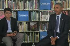 Watch a 12-year-old student shut a rambling Barack Obama down