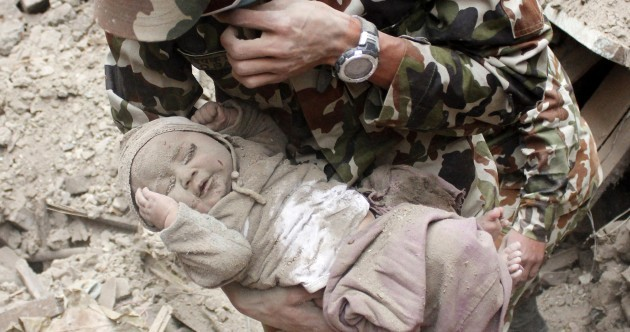 Baby pulled from rubble 24 hours after Nepal earthquake