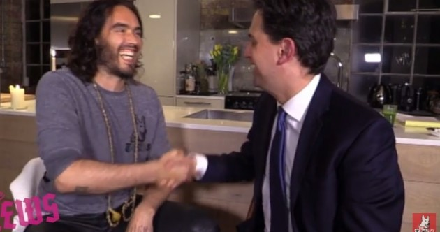 Russell Brand backs Ed Miliband: 'You gotta vote Labour'