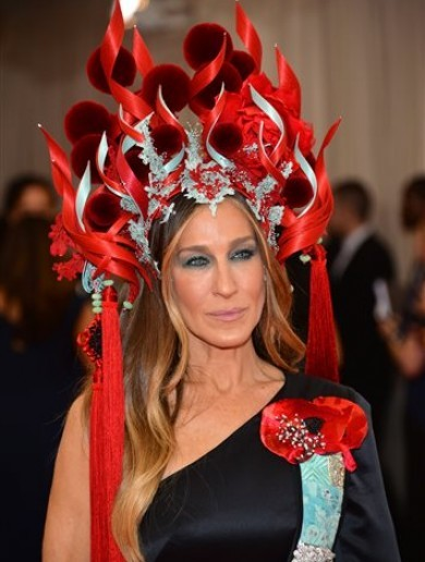 Why were celebrities wearing crazy-looking outfits last night?