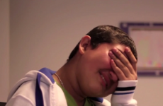 Just look at the tears of joy on this kid's face when he's surprised by his footballing hero