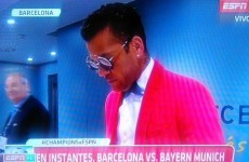 Dani Alves turned up for the Bayern Munich game dressed as Bruno Mars again, everyone