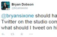 So Bryan Dobson left his Twitter logged on in RTÉ last night…