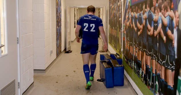 Leinster legend Gordon D'Arcy got a rousing reception at the RDS