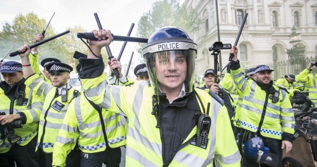 Anti-austerity protesters clash with police near Downing Street