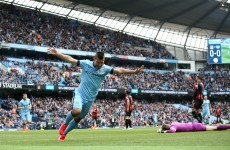 Sergio Aguero is out of sight as the Premier League's top scorer after his latest hat-trick