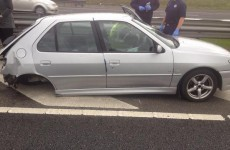 Car parts end up 50 metres from car after bad driving on the M1