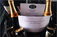 U2 sent Kodaline a load of Guinness and champagne with the most Irish note ever