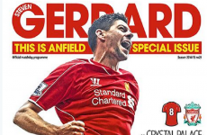 Liverpool changed the title of their matchday programme for Stevie G's big farewell party