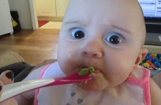 This baby girl tasted her first avocado and she was NOT happy about it