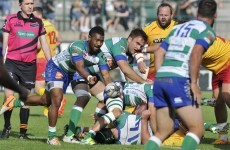 Oh no! This showboating Treviso scrum-half should be cut right away for this bit of butchering