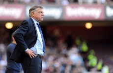 Big Sam told he is out of job just seconds after the final whistle