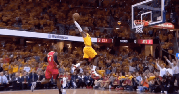 Goodnight, Atlanta! It took three minutes for LeBron to stamp his authority all over Game 4