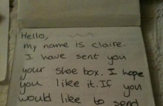 This Galway woman sent away a charity shoebox and received a thank you note 16 years later