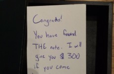 This mysterious note promising a man $300 sent the internet into a frenzy