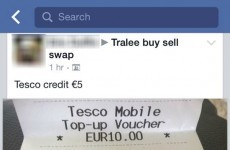 Somebody in Tralee tried to sell phone credit on Facebook but failed so hard