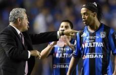Ronaldinho tried a Georgie Best effort but his cheeky goal was disallowed too