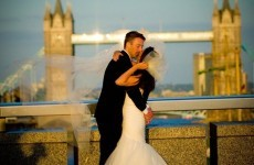 A photographer captured a newlyweds' embrace and now the photo has taken over the internet