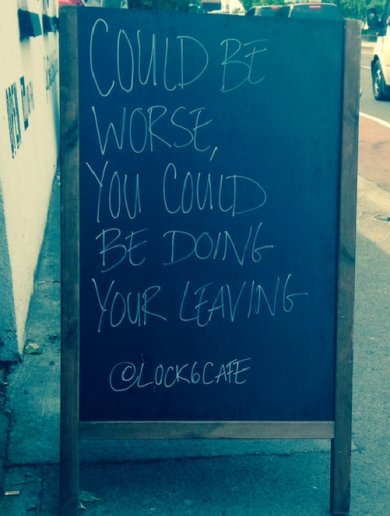This Dublin cafe just put going to work on a sunny day into perspective