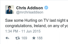 An English comedian watched hurling and had this to say to us…