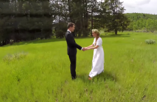 This drone footage of a wedding is beautiful, but wait for it…