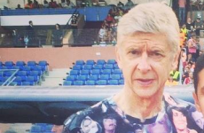 Arsenal unveil new home jersey but it hasn't a patch on Wenger's funky t-shirt