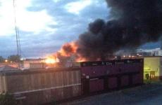 Fire crews battle massive blaze at Ballymun shopping centre